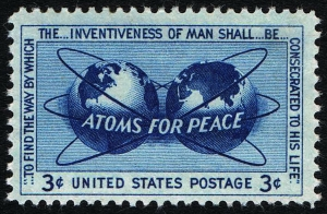 A stamp of approval: the US Postal Service commemorated Eisenhower's initiative in 1955.